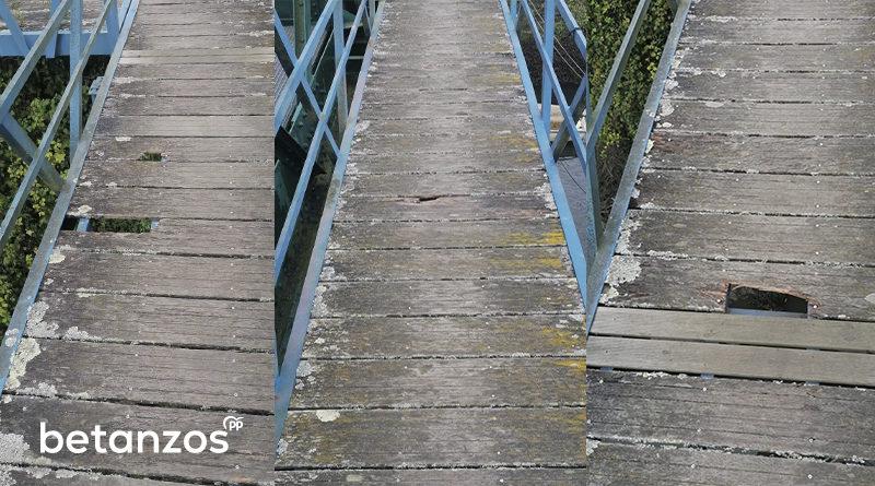 Reparación desperfectos en el Puente de Hierro de Betanzos